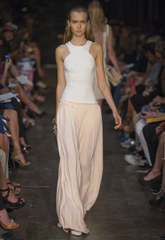 Victoria Beckham SS/12:  Blonde/white techno stretch and silk crepe cut out floorlength dress.