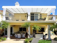 Patio Cover with Drapes