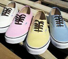 Pastel-coloured VANS <3