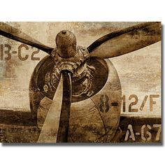Dylan Mathews 'Vintage Propeller' Canvas Art | Overstock.com Shopping - Top Rated Canvas