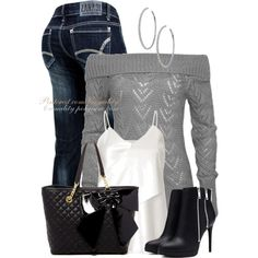 A fashion look from November 2014 featuring Wet Seal sweaters, 3.1 Phillip Lim tops and Forever 21 ankle booties. Browse and shop related looks.