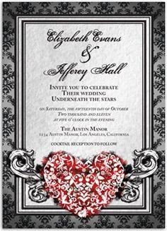 goth wedding invitations | Elegant but goth wedding invitation magnet ... | ♥ Goth Weddings ...