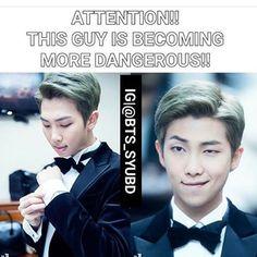 Namjoon has always been dangerous! Wake dafuq up! Ahaha! ❤ #BTS #방탄소년단