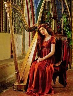 Once upon in a Fairytale - Pre-raphaelite inspiration. Nicola Roberts by Sven Arnstein for OK! Mag 2007