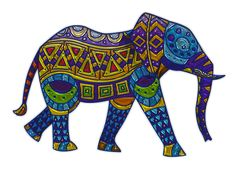 Elephant, Metallizer, Art, Glass