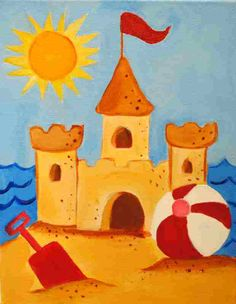 Summer - sand castle I want to draw this!!!