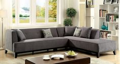 Sofia II Gray Sectional Sofa - CM6861GY