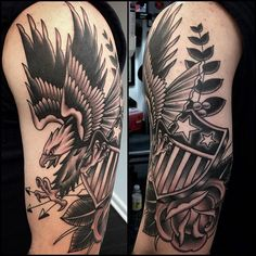 A little late of a post but just finished Robert's eagle piece. Thanks man!