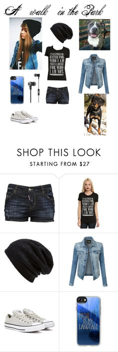 """A Walk in the park"" by haileybowe00-1 ❤ liked on Polyvore featuring Dsquared2, Hot Topic, Barefoot Dreams, LE3NO, Converse, Casetify, JBL and plus size clothing"