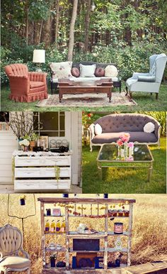 reception decor- outdoor {soft} seating
