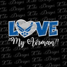 Love My Airman United States Air Force  SVG Design by TCTeeDesigns