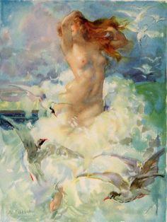 "Antoine Calbet (French, 1860-1944), ""L'aurore"" ♥"