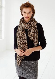 Image result for hush leopard print scarf