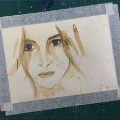 #posca #catchlight #eyes #coffee #artchallenge #dailychallenge #paintingwithcoffee #femaleportrait