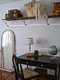 Chateau Chic: Vintage Train Rack