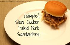 Slow Cooker Pulled Pork Sandwiches {25 Days of Slow Cooking}