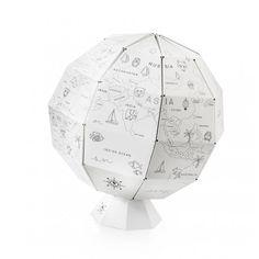 Avec cette mappemonde à colorier, les enfants vont apprendre la géographie tout en s'amusant !