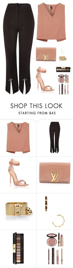"""Sin título #4710"" by mdmsb on Polyvore featuring moda, Topshop, Gianvito Rossi, Louis Vuitton, Yves Saint Laurent y Charlotte Tilbury"