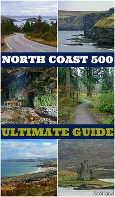 The Ultimate North Coast 500 Guide Plan the ultimate road trip along the North Coast 500 in Scotland! Find out when to go, what to see, and how to make the most of your journey along this epic route around Scotland's most scenic landscapes! Scotland Road Trip, Road Trip Europe, Scotland Travel, Ireland Travel, Glasgow Scotland, Camping Scotland, The Road, North Coast 500 Scotland, Road Trip Adventure