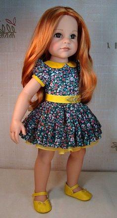 Летнее платье для Ханны (кукла Götz, Готц) / Одежда для кукол / Шопик. Продать купить куклу / Бэйбики. Куклы фото. Одежда для кукол