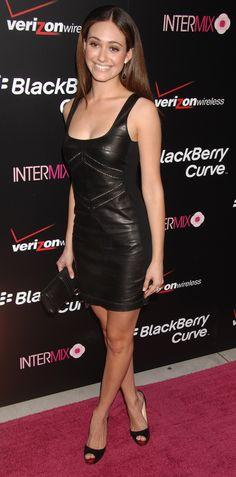 Emmy Rossum, red carpet, black dress, celebrity. #LittleBlackDress