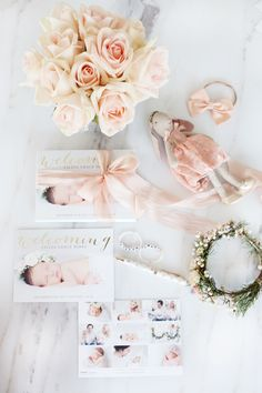 Share a precious welcome with this delicate birth announcement card design from Minted.  Image courtesy of @monikahibbs