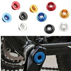 Bike Cranksets - OUTERDO 2 Pcs Anodized Arm Fixing Bolt Bike Crank Chainset Screw Axis For Mountain Bike *** Check out the image by visiting the link.