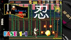 The Revenge of Shinobi (Mega Drive) Abertura e Fase 1-1