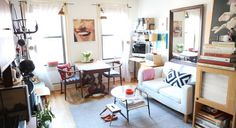 My teeny-tiny Brooklyn Living (and dining room!) featured on Elle Decor...