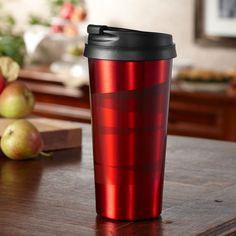 Starbucks® Stainless Steel Tumbler - Red, 16 fl oz. at StarbucksStore.com - would be wonderful to find tucked into a Christmas stocking!  :)