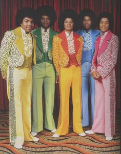 "The Jackson 5 in David Wills' ""Seventies Glamour"" available at Bookmarc"