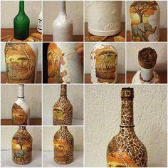 Foto: Botella forrada con cascara de huevo!!