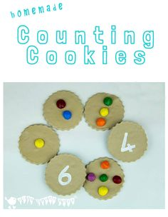 Early math can be great fun with these homemade COUNTING COOKIES.