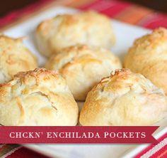 Yummy chicken enchilada pockets!