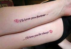 Amazing Mother Daughter Tattoos - Tattoo Designs For Women! Mommy Daughter Tattoos, Tattoos For Daughters, Sister Tattoos, Mom Daughter, Mother Daughters, Mother Son, Mother And Daughter Tatoos, Mother Child Tattoos, Husband Wife Tattoos