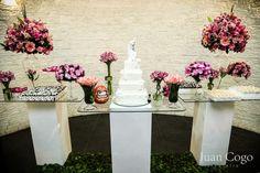 Mesa de casamento simples e elegante
