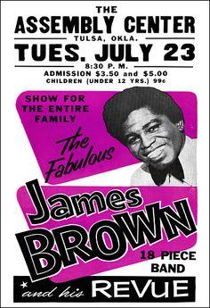 James Brown Poster | James Brown 1963 Tulsa OK Concert Poster Rock Posters, Music Posters, Vintage Rock, Vintage Ads, Soul Music, Art Music, The Black Crowes, Jerry Lee Lewis, Vintage Concert Posters