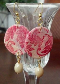 salt dough earrings