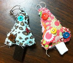 Angela Anderson Art Blog: Fun Sewn Christmas Tree Ornaments - Art Class Project