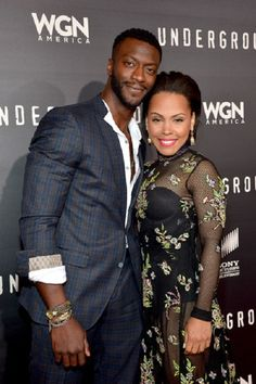 Aldis Hodge and Amirah Vann at the WGN America Underground Premiere
