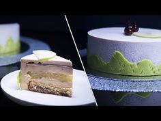 Tort de Mousse cu Mere, Caramel, Ciocolata & Pecane / Caramel, Apple, Pecan & Chocolate Mousse Cake - YouTube Caramel, Chocolate Mousse Cake, Pudding, Make It Yourself, Desserts, Food, Sticky Toffee, Tailgate Desserts, Candy