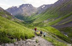 travel and adventure with friend. Crow Pass Trail, Chugach Mountain Range and National Forest. Near Girdwood, Alaska!