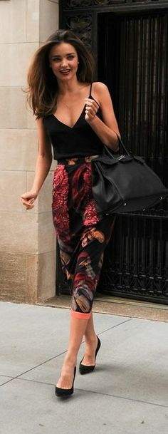 Street Style Inspiration by Miranda Kerr. Hair and outfit. Bye