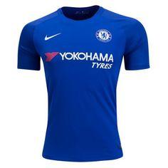 ef6ca6ca0fa Nike Men s Chelsea 17 18 Home Jersey Rush Blue White Football Kits