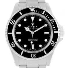 17602 Rolex Submariner 40mm No-Date 2-Liner Mens Watch 14060 Box Papers SwissWatchExpo