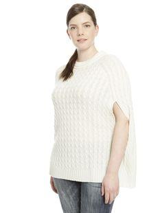 #maglia in lana con lavorazione a trecce. € 66 #diffusionetessile #curvyfashion #AI16 #moda #fashion