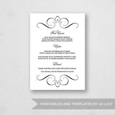 fun menu templates