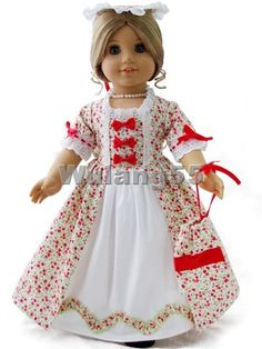 Colonial Dress Gown Fits American Girl Doll Felicity | eBay