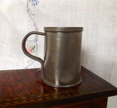 English Pewter Mug Small Tankard Solid Pewter by GoldenBeeAntiques Pewter Tankard, Antique Items, Wonderful Things, Makers Mark, Vintage Shops, Thrifting, Repurposed, Bee, England