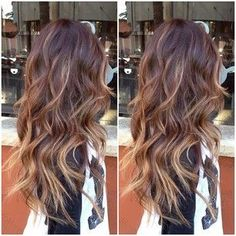 Full balayage highlights over an ombré...pretty pretty!